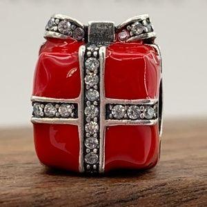 Pandora Red Gift box Charm #791772CZ